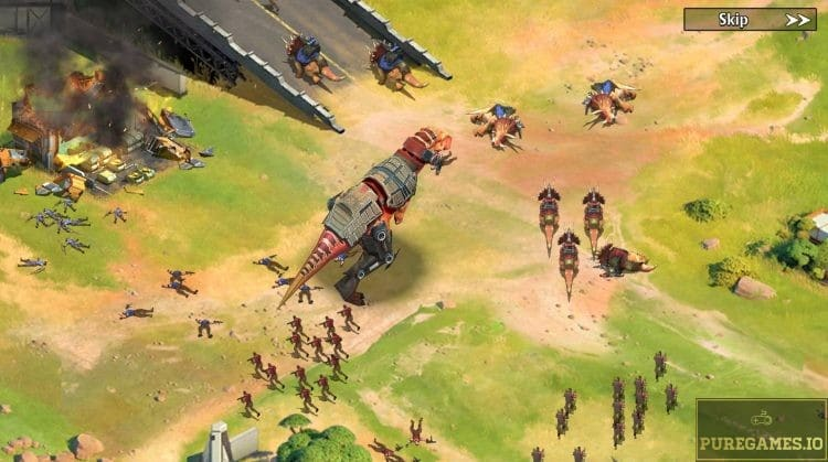 download Dino War - Rise of the Beast and experience an epic MMO Strategy adventure