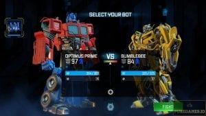Optimus Prime versus Bumblebee