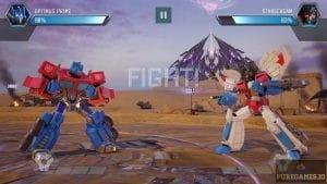 Optimus Prime versus Starscream