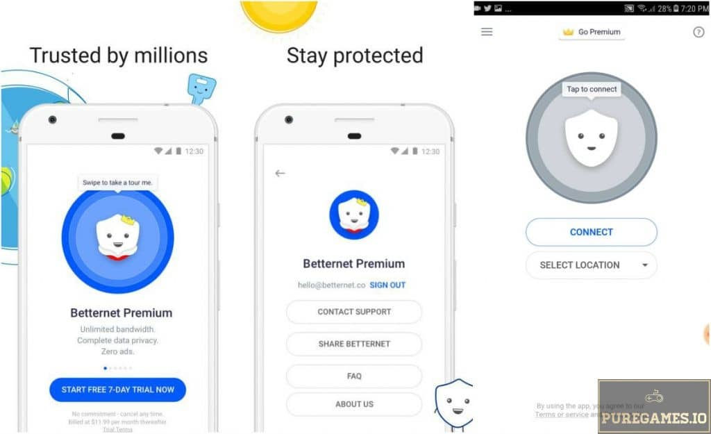 VPN Free - Betternet Hotspot VPN & Private Browser APK - For Android
