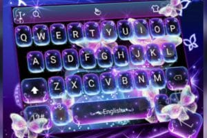 Download Colorful Glitter Neon Butterfly Keyboard Theme APK - For Android/iOS 15
