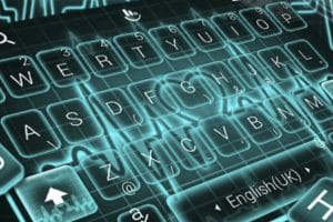 Download Live 3D Neon Blue Love Heart Keyboard Theme APK - For Android/iOS 8