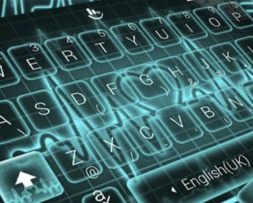 Download Live 3D Neon Blue Love Heart Keyboard Theme APK - For Android/iOS 6